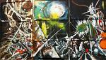 Trittico - Lucio Forte - Action painting - 1500€ - Venduto!