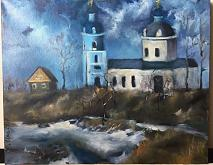 Chiesa - Olga Maksimova - Olio - 50€