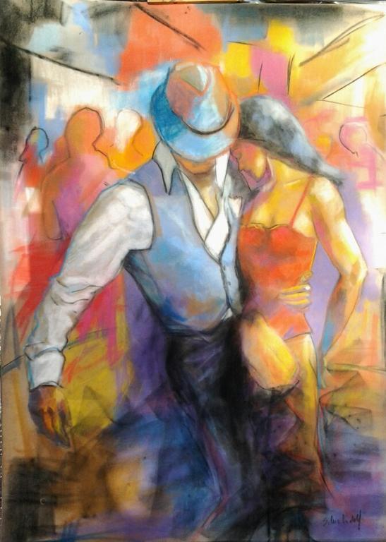 Danza a colori - SILVIA RIDOLFI - Pastelli - 180 €