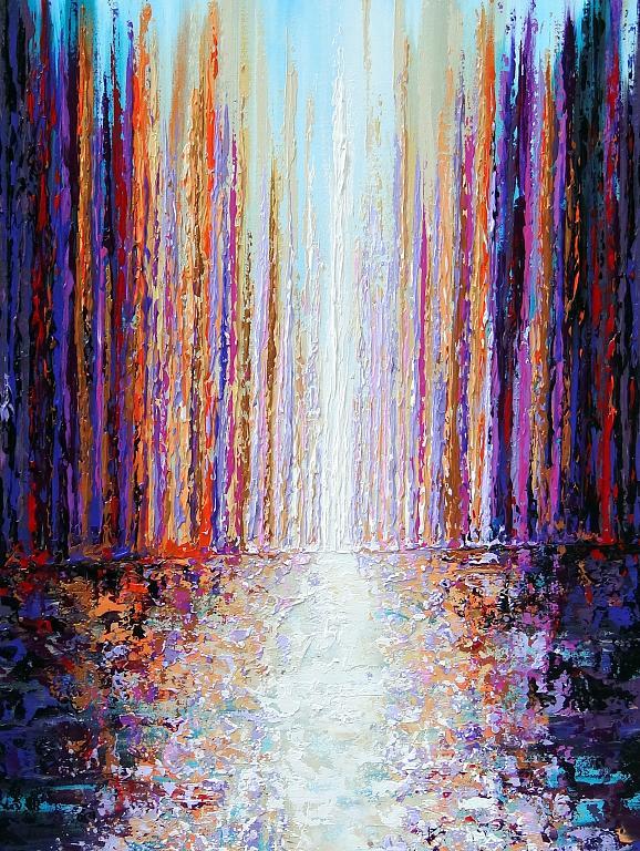 Corridoio di colori  - Daniela Pasqualini - Acrilico