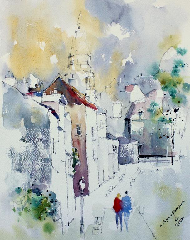 Passaggio a Montmartre - Guido Ferrari - Acquerello - 500 €