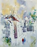 Passaggio a Montmartre - Guido Ferrari - Acquerello - 500€