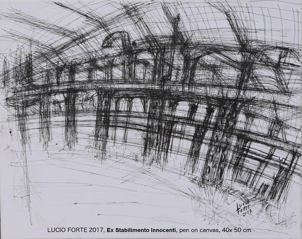 Ex Stabilimento Innocenti - Lucio Forte - Penna ad inchiostro liquido su tela -  €