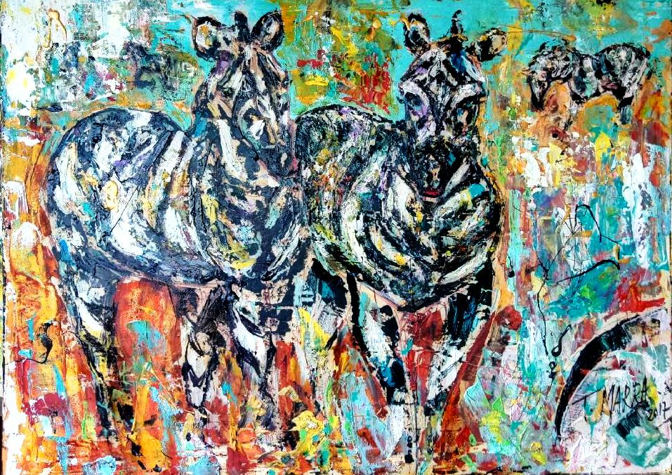 Zebre - tiziana marra - Action painting - 420,00 €