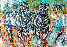 Zebre - tiziana marra - Action painting - 420,00€