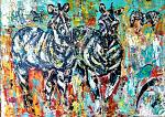Zebre - tiziana marra - Action painting - 420,00€ - Venduto!