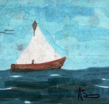 in mezzo al mare - daniele rallo - pennarello