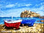 Le due barche - Paolo Benedetti - Acrilico - 150 €
