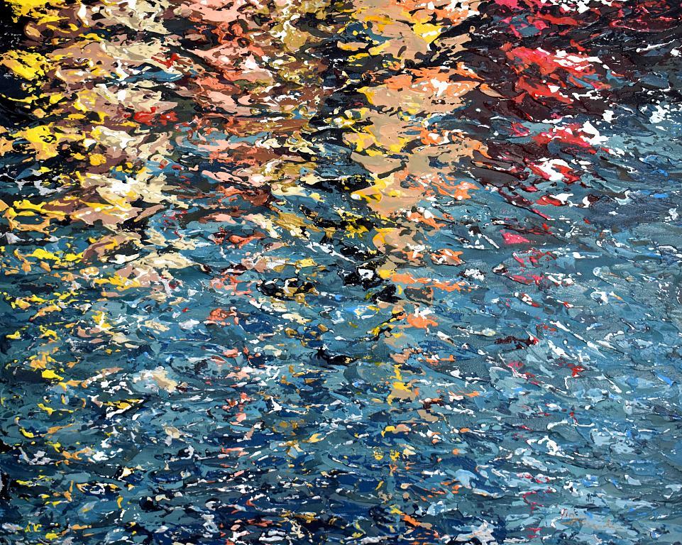 New England Boats Reflection - Daniela Pasqualini - Acrilico