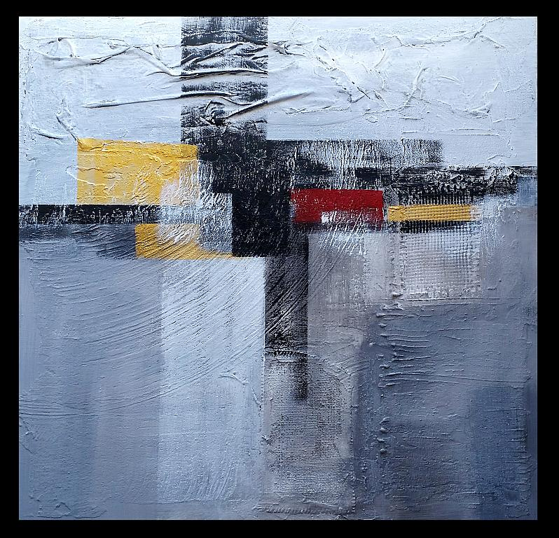 Abstract on grey n.5 - aliz polgar - materico