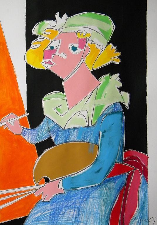 Ritratto di Marie Louise Elizabeth Vigee Lebrun - Gabriele Donelli - Pastelli e acrilico - 300 €