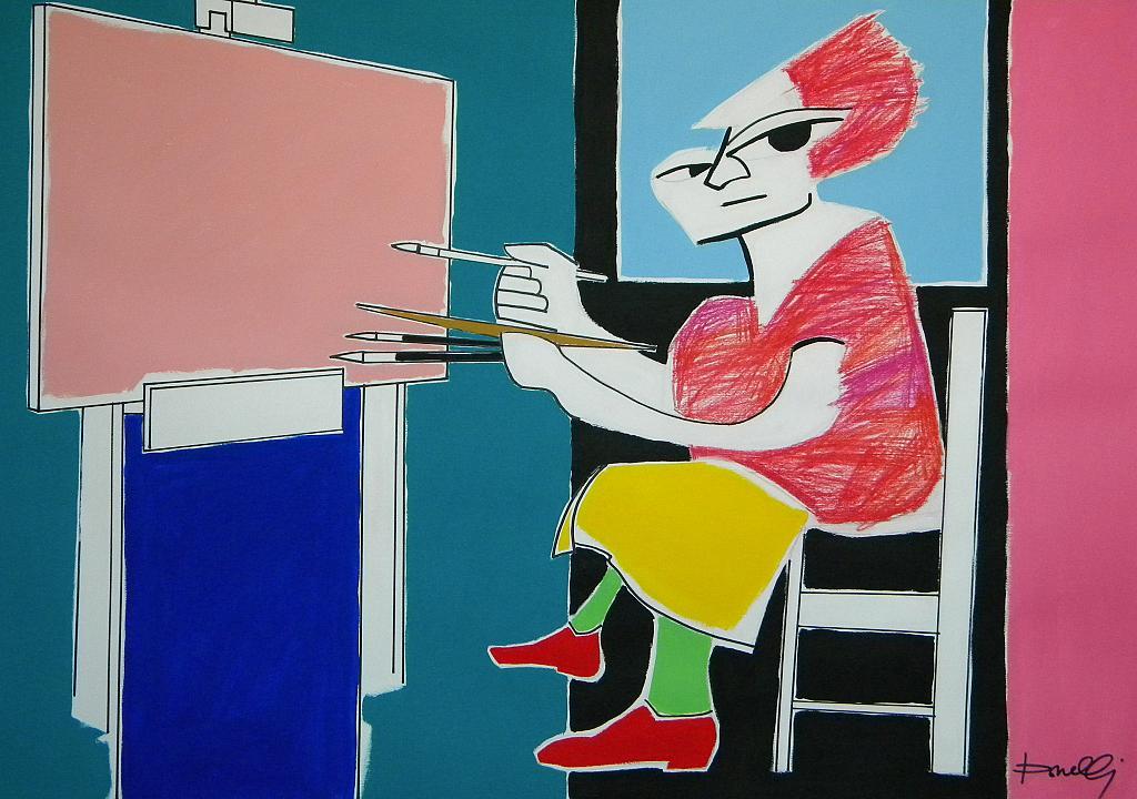 Ritratto di Suzanne Valadon - Gabriele Donelli - Pastelli e acrilico - 400 €