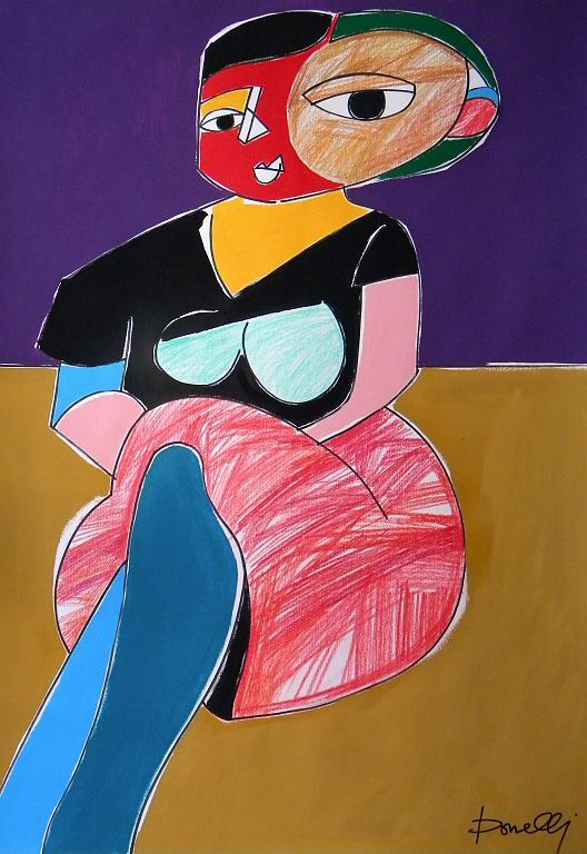 Donna seduta - Gabriele Donelli - Pastelli e acrilico - 800 €