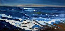 Mare e scogli - Pietro Dell Aversana - Olio - 210€