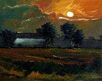 All'imbrunire della sera - Pietro Dell Aversana - Olio - 175€