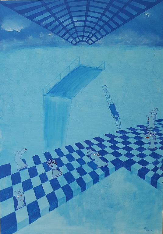 tuffo nell'anima - franco scacchi - Acrilico