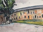 Monluè Farmhouse - Lucio Forte - Watercolor -  euro