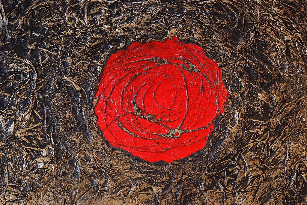 Blossom time   - Massimo Di Stefano - mista su tavola di legno