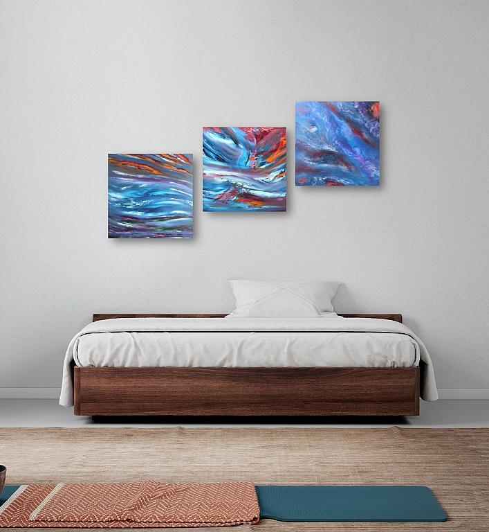 Sky transition, Triptych, n 3 Opere  - Davide De Palma - Olio - 350 €