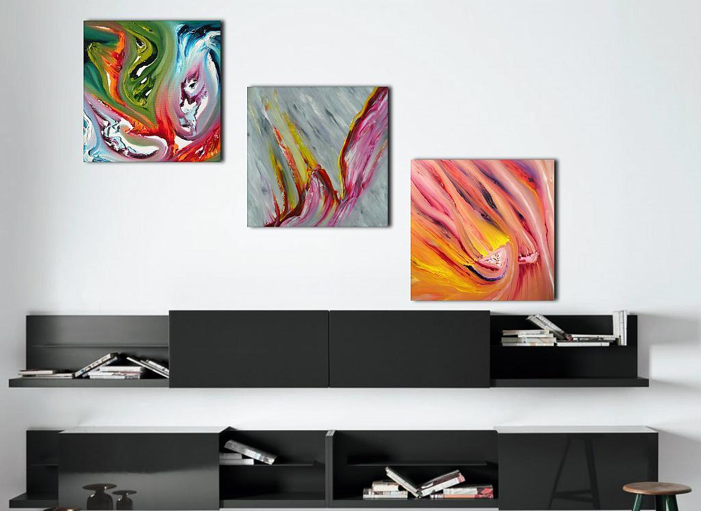Moods, Triptych - Davide De Palma - Olio -  €