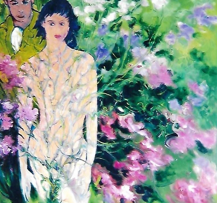 Adamo e Eva il paradiso perduto - mario fanconi - Olio