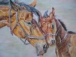 cavalla con puledro - Ruzanna Scaglione Khalatyan - Pastelli - 150€
