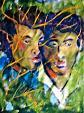 Due fratelli - mario fanconi - Olio
