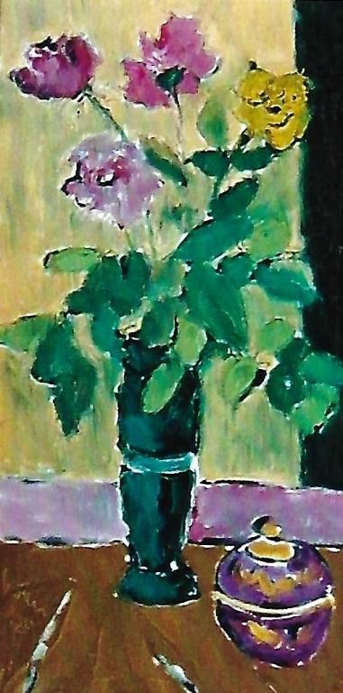 Roselline multicolori - mario fanconi - Olio