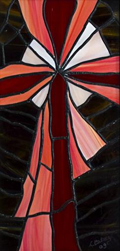 Crocifissione - Carlo Bensi - composizione  in vetro - 700 €