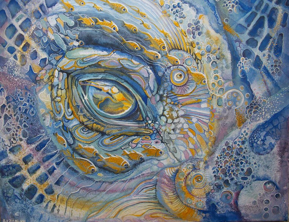 L'occhio dell'oceano - Ruzanna Scaglione Khalatyan - Acrilico