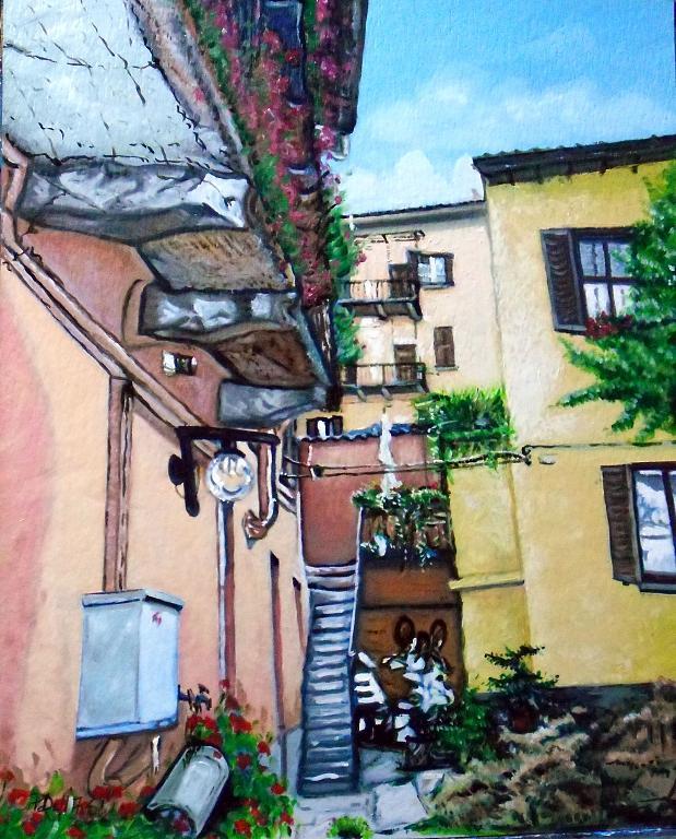 Milano via Mambretti - Pietro Dell Aversana - Olio - 115 €