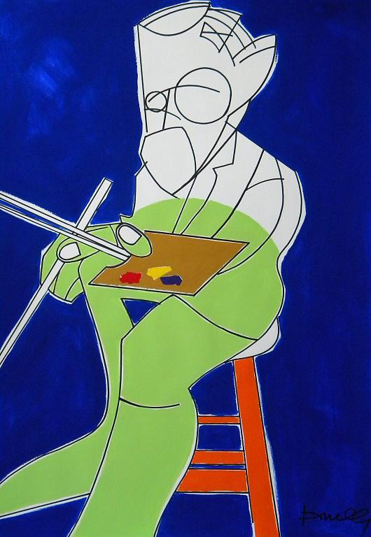 Ritratto di Henri Matisse - Gabriele Donelli - Acrilico - 1400 €