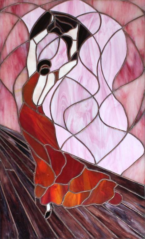 Ballerina di flamengo - Carlo Bensi - composizione in vetro - 1500 €