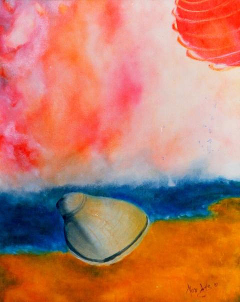 ricordi di mare con conchiglia - daniele Rallo  - Olio -  €