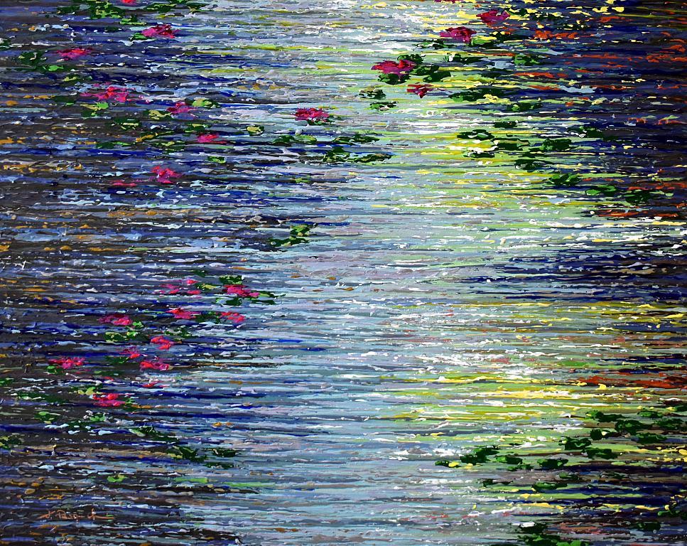 The Pond series #8 - Daniela Pasqualini - Acrilico