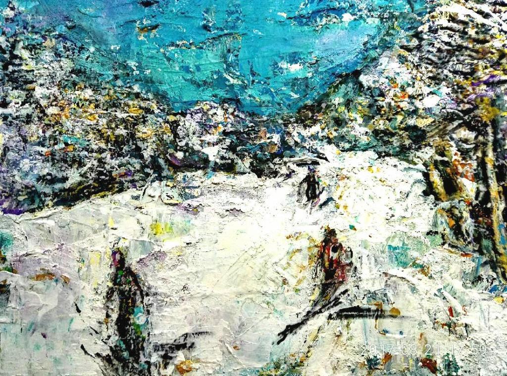 Paesaggio bianco - tiziana marra - Action painting - 150,00 €