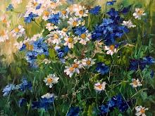 Campo di fiori  - Olga Maksimova - Olio - 150€