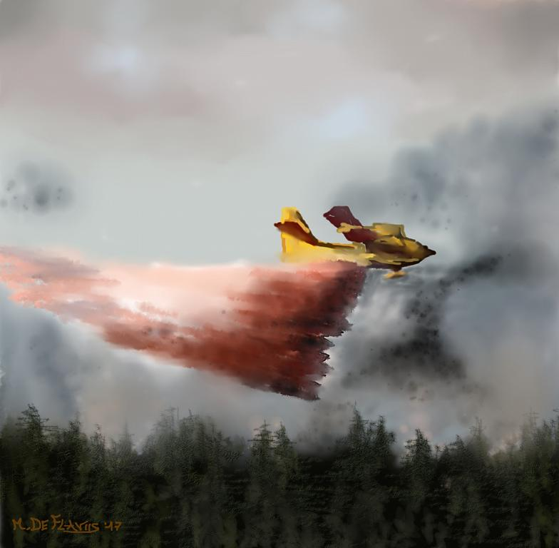 Canadair in azione - Michele De Flaviis - Digital Art