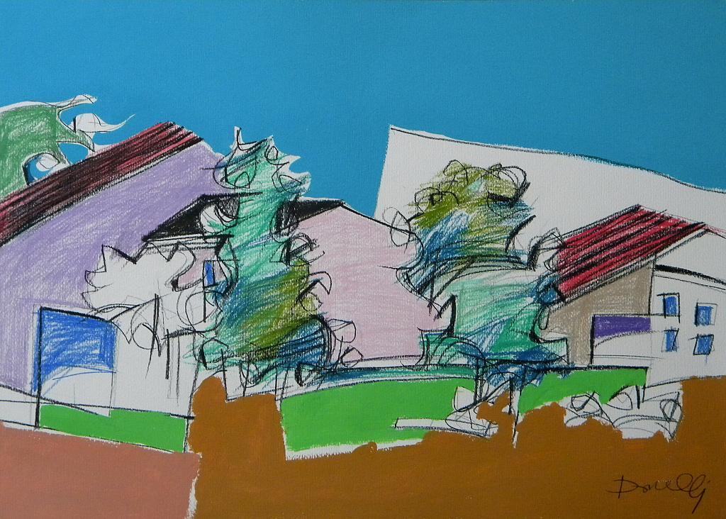 Paesaggio - Gabriele Donelli - Pastello e acrilico - 800 €