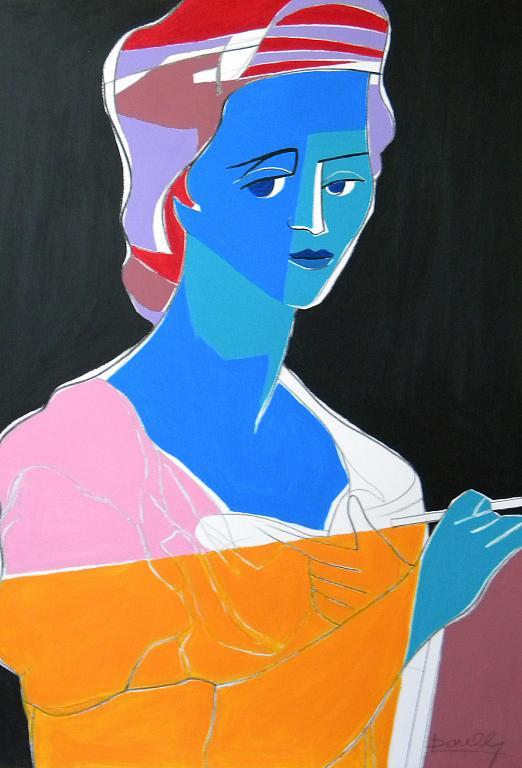 Ritratto di Angelika Kaffmann - Gabriele Donelli - Acrilico - 300 €