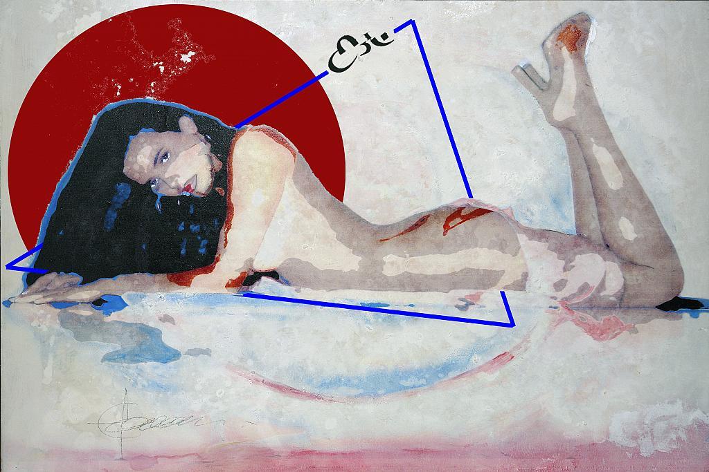ABSTRACT WOMAN - mista su tavola - Ezio Ranaldi - TECNICA MISTA - 2400 €
