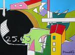 Case in collina - Gabriele Donelli - Acrilico - 800 euro