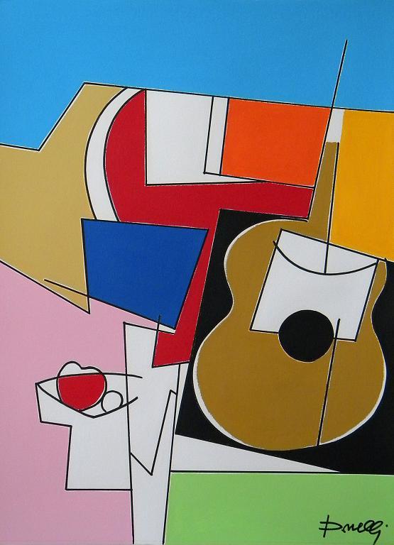 Chitarra e fruttiera - Gabriele Donelli - Acrilico - 400 €