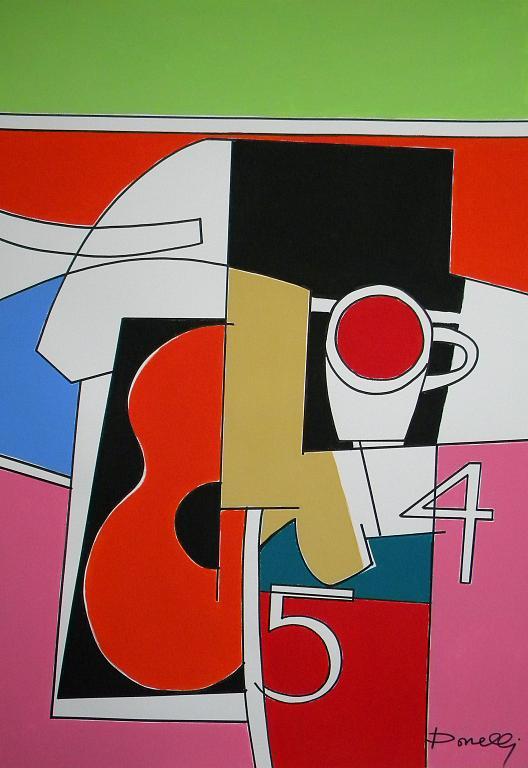 Chitarra e tazzina - Gabriele Donelli - Acrilico - 400 €