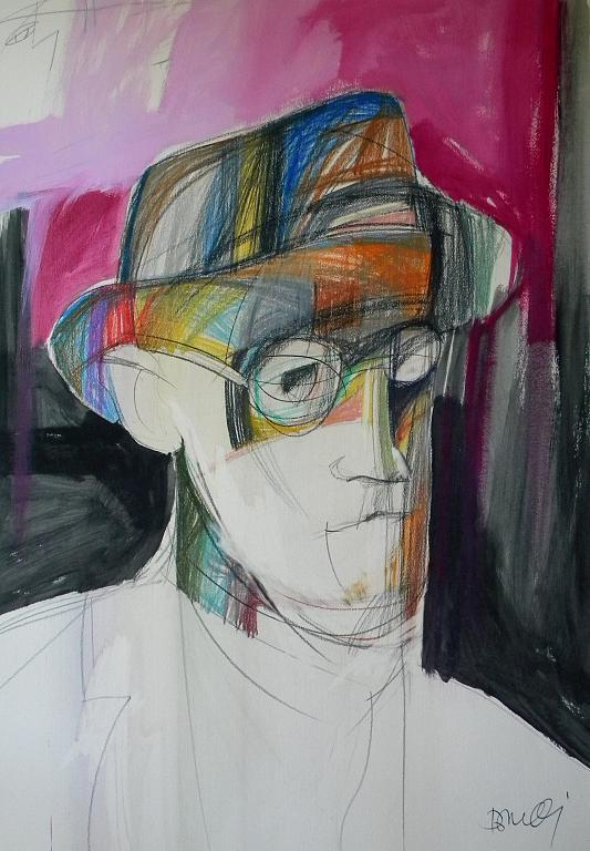 Ritratto di James Joyce - Gabriele Donelli - Pastello e acrilico - 1800 €