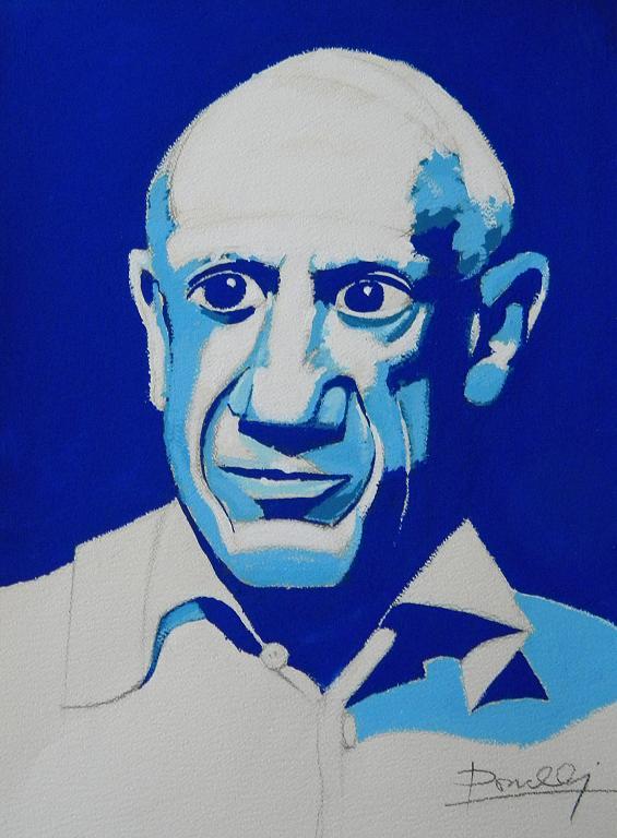 Ritratto di Pablo Picasso - Gabriele Donelli - Acrilico - 1400 €