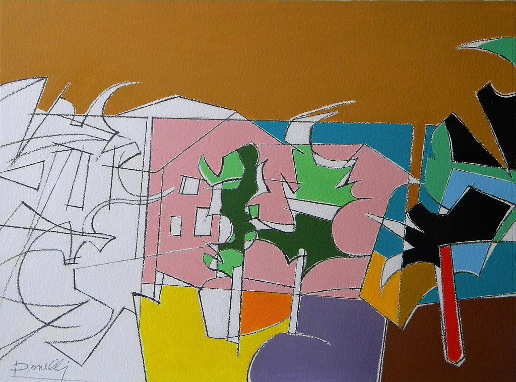 Paesaggio metafisico - Gabriele Donelli - Acrilico - 400 €