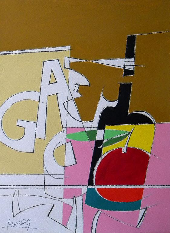 Spazio e oggetti in una struttura metafisica. Numero due - Gabriele Donelli - Acrilico - 400 €