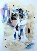 Karpathos3 - Guido Ferrari - acquerello e inchiostro - 350€
