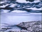 Il mare in bianco e nero  - Gabriella Poggi - Olio